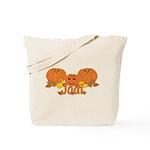 Halloween Pumpkin Jodi Tote Bag