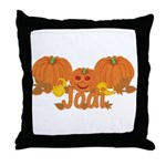 Halloween Pumpkin Jodi Throw Pillow