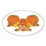 Halloween Pumpkin Jodi Sticker (Oval)