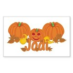 Halloween Pumpkin Jodi Sticker (Rectangle)