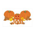 Halloween Pumpkin Jodi 35x21 Wall Decal
