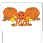 Halloween Pumpkin Jodi Yard Sign