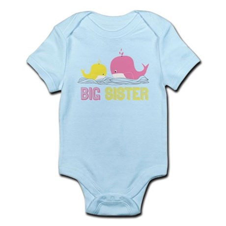 Big Sister Whales Infant Bodysuit