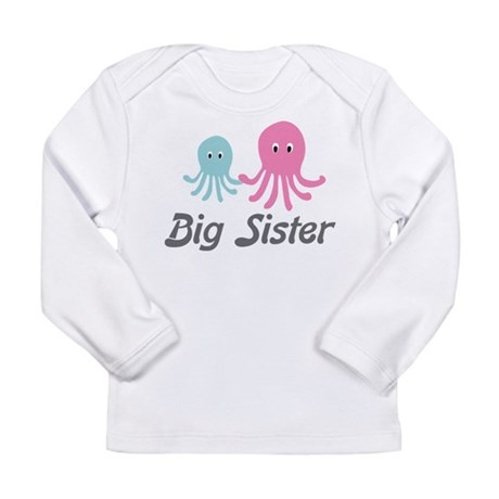 Big Sister Octopus Long Sleeve Infant T-Shirt