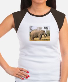 Eating for two - elephant Women's Cap Sleeve T-Shi