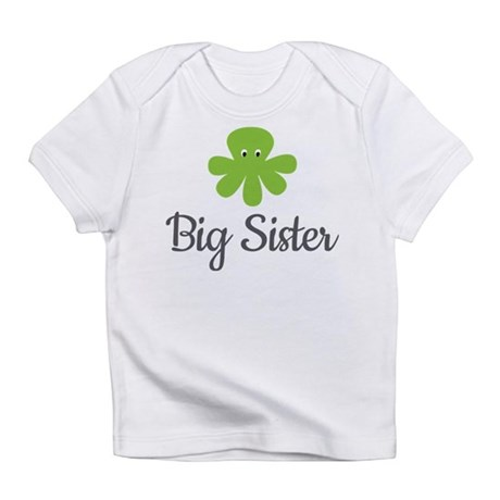 Big Sis Green Octopus Infant T-Shirt