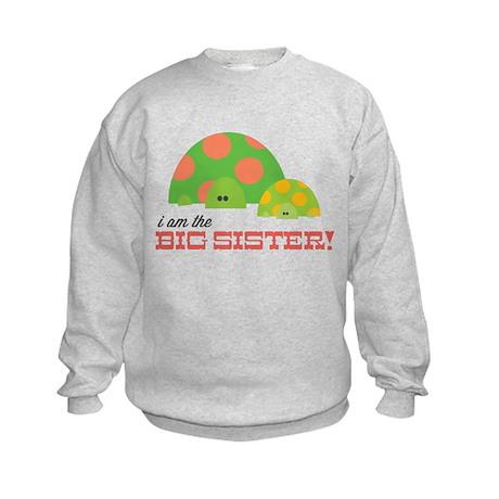 Big Sister Turtle Kids Sweatshirt