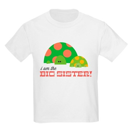 Big Sister Turtle Kids Light T-Shirt