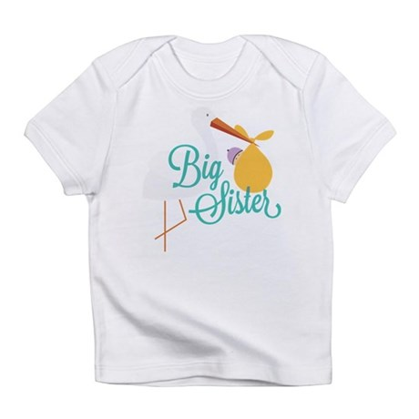New Sister with Stork Infant T-Shirt