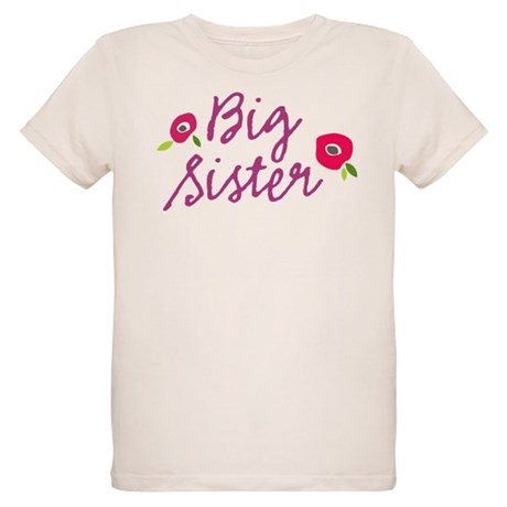 Big Sister Floral Organic Kids T-Shirt