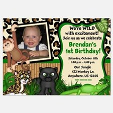 Jungle Safari Birthday Invitations Invitations
