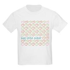 Big Little Sister Hearts T-Shirt