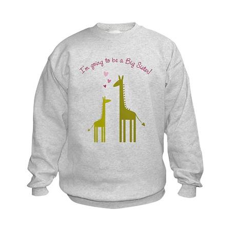 Big Sister Giraffes Kids Sweatshirt