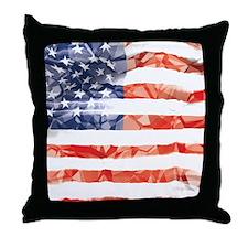 US Flag Throw Pillow