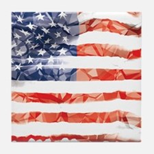 US Flag Tile Coaster