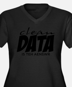 Clean Data is the Answer Women's Plus Size V-Neck