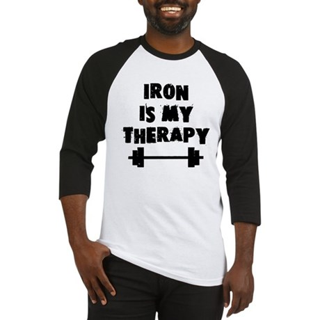 Iron is my therapy Baseball Jersey