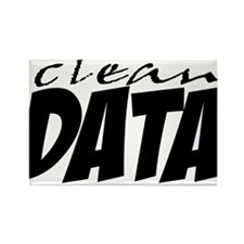 Clean Data is the Answer Rectangle Magnet