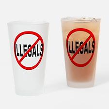 Anti / No Illegals Drinking Glass