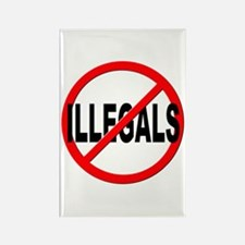Anti / No Illegals Rectangle Magnet