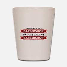 Barbershop Shot Glass