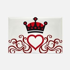 floral tribal heart crown Rectangle Magnet