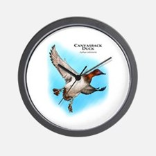 Canvasback Duck Wall Clock
