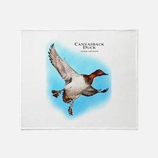 Canvasback Duck Throw Blanket