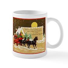 Christmas Horse and Buggy Mug