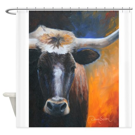 Long Horn by Dawn Secord Shower Curtain