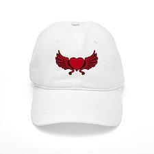 heart wings tribal floral crown Baseball Cap