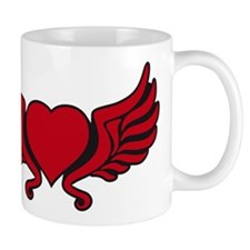 heart wings tribal floral crown Mug