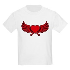 heart wings tribal floral crown T-Shirt
