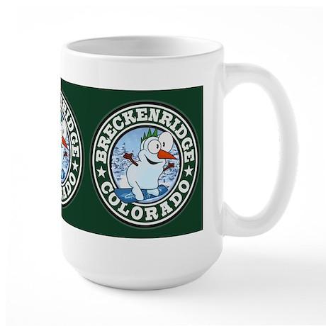 Breckenridge Snowman Circle Large Mug