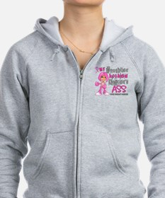 Loved One Kicked Breast Cancer's Ass 42 Zip Hoodie