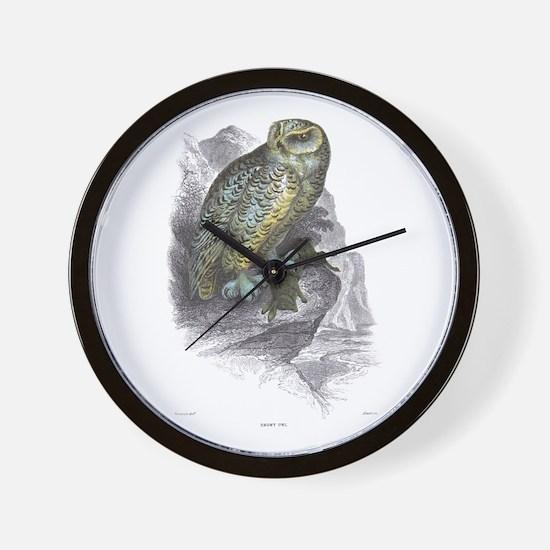 Snowy Owl Bird Wall Clock