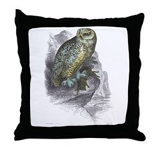 Snowy Owl Bird Throw Pillow