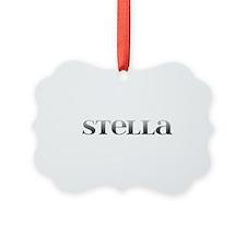Stella Carved Metal Ornament
