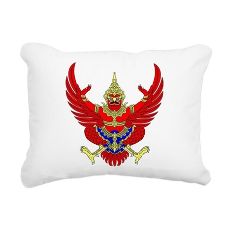 Thai Garuda Symbol Rectangular Canvas Pillow