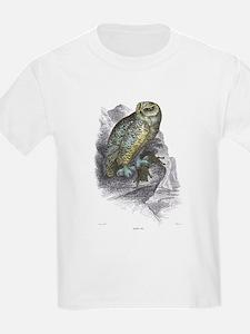 Snowy Owl Bird (Front) Kids T-Shirt