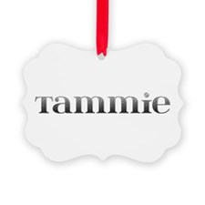 Tammie Carved Metal Ornament