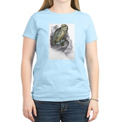 Snowy Owl Bird Women's Pink T-Shirt