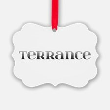 Terrance Carved Metal Ornament