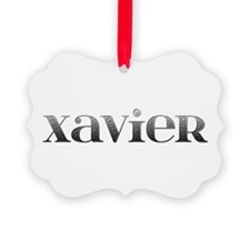 Xavier Carved Metal Ornament