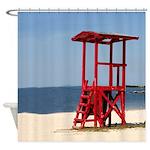 Lifeguard Stand Shower Curtain