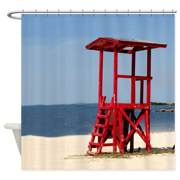lifeguard stand shower curtain by stolenmomentsph