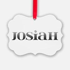 Josiah Carved Metal Ornament