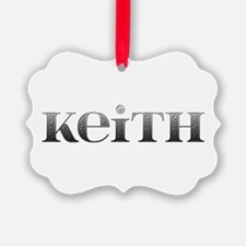 Keith Carved Metal Ornament