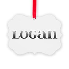 Logan Carved Metal Ornament