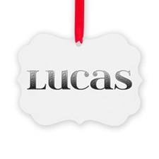 Lucas Carved Metal Ornament